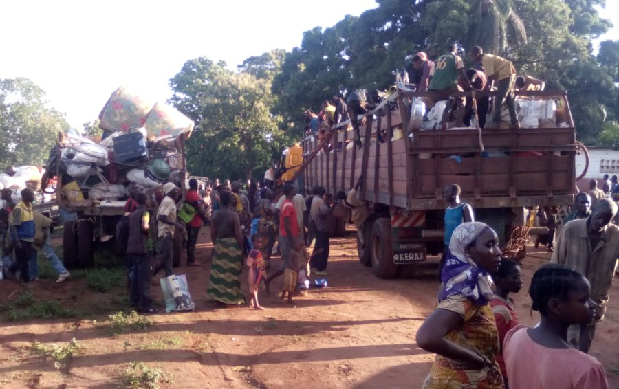 medicines for displaced population in Bangassou
