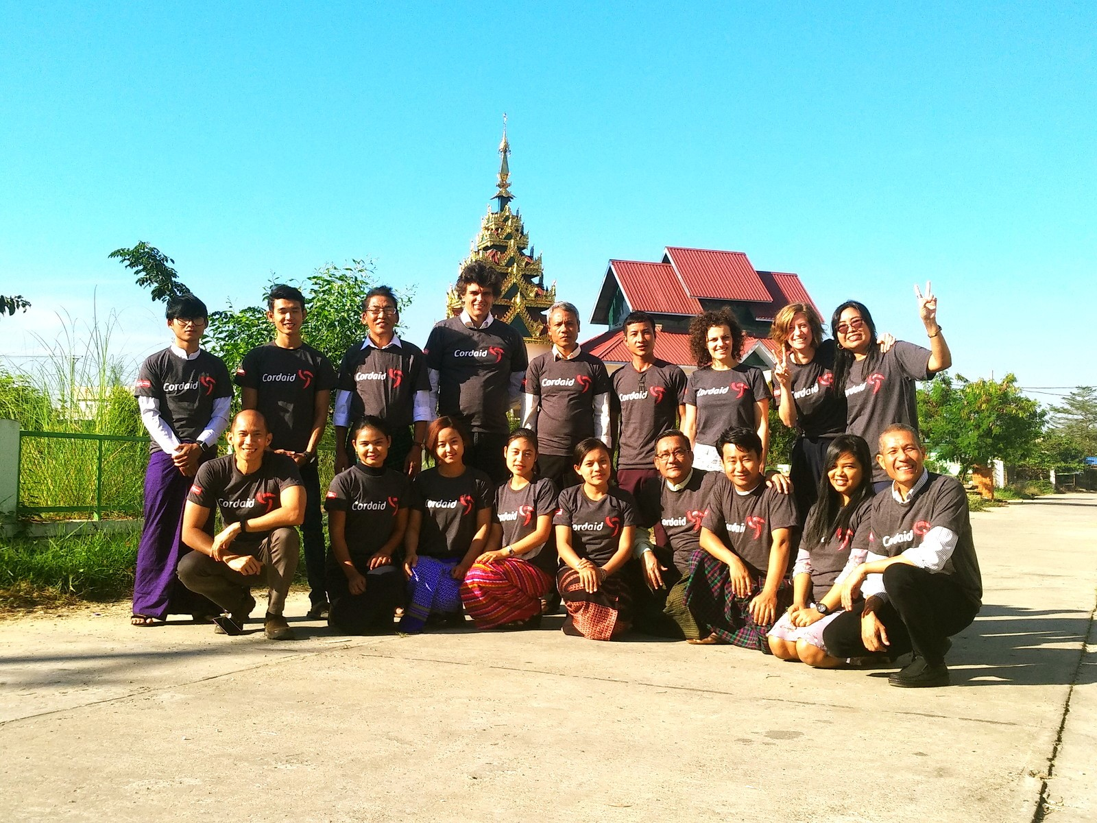Cordaid team in Myanmar