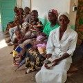 Patients waiting for free MNCH care in Ouango Hospital