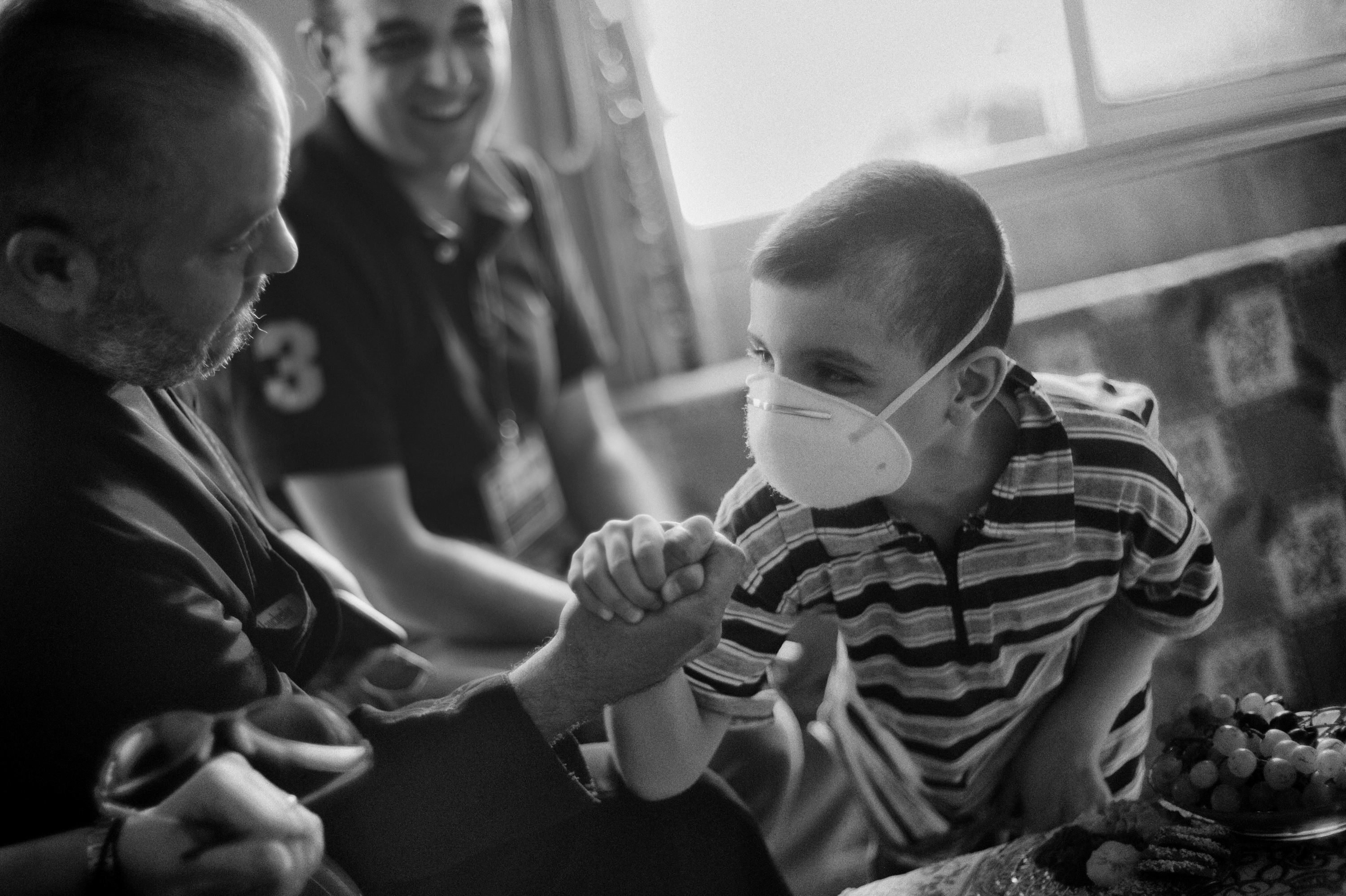 Suhil, who had to travel to Damascus each month for his chemo therapy (photo: Eddy van Wessel)
