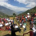 displaced families in Nepal