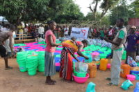 emergency aid for displaced persons in Alindao