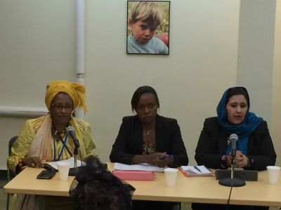 The panelists included women representatives from Somalia, South Sudan and Afghanistan.