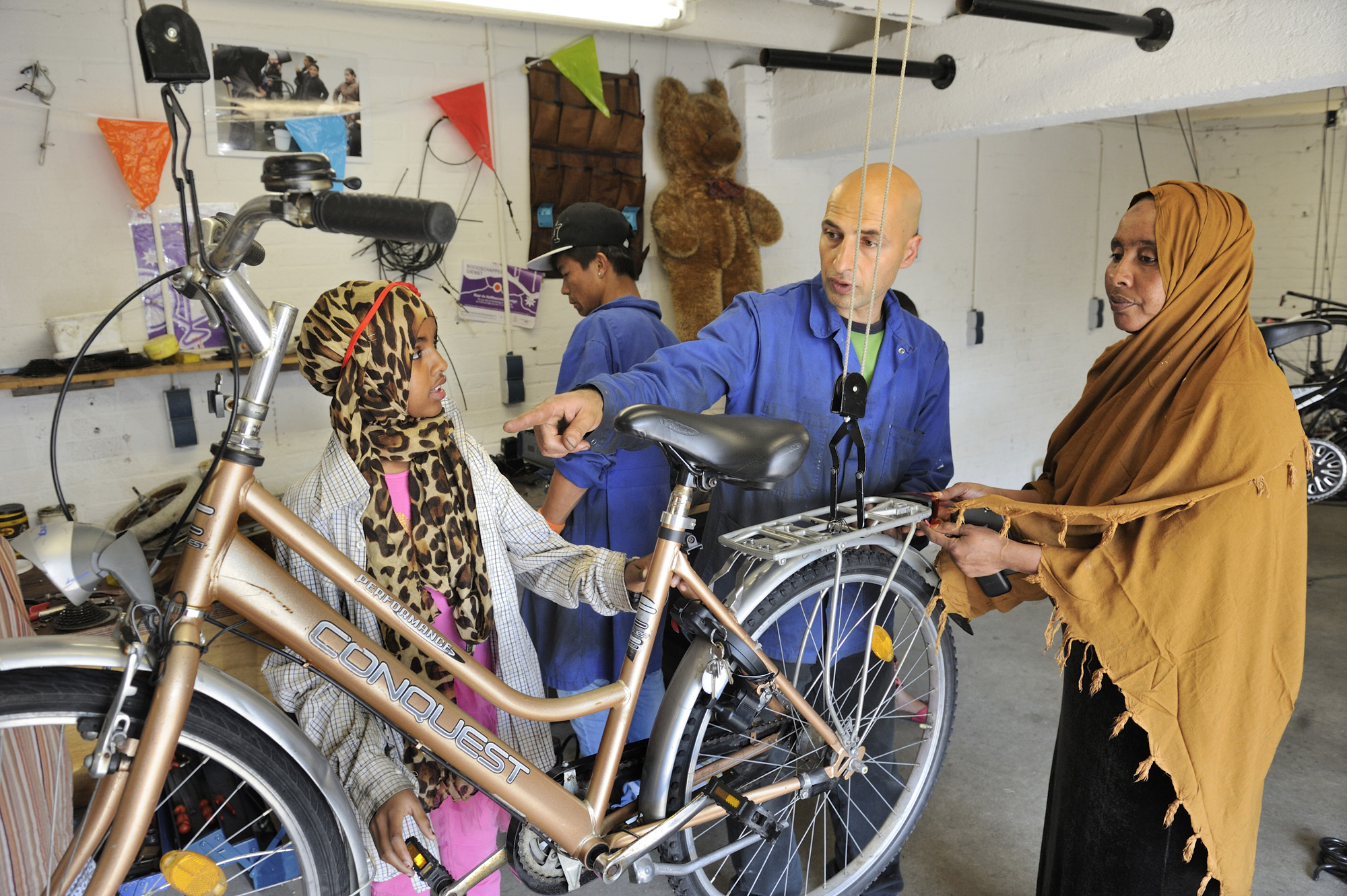 De fietswerkplaats van coöperatie Copernikkel in Den Bosch